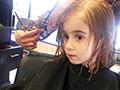 Laia and Sofia get a haircut